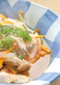 鶏むね肉と野菜の完熟トマト煮