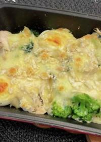 サラダチキンの豆腐グラタン
