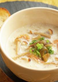 えのきの入った台湾風豆乳スープ