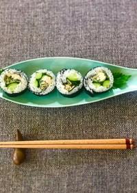 余った棒餃子で簡単巻き寿司♪