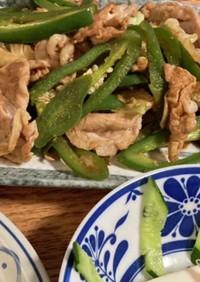 簡単!豚肉キャベツピーマン焼肉のタレ炒め
