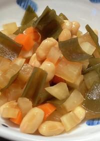 まごわやさしい3品目入 大豆と昆布の煮物