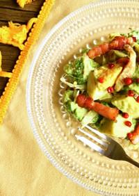 ベーコンとブロッコリーのアボカドサラダ