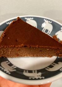 チョコと豆腐の簡単ケーキ