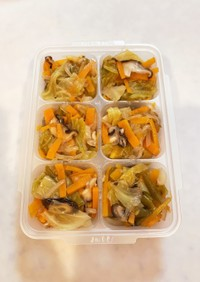 子供の冷凍お野菜ストック(2歳)