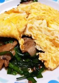 簡単♪︎美味しい!ふわふわ卵の豚ニラ玉♡