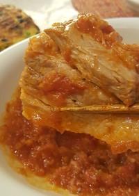 豚バラ肉のトマト煮込み。(o^^o)♪