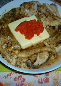 真鱈のアラのオリーブオイル炒めと冷や奴