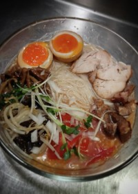 冷製トマトの中華風素麺❨(@≧↺≦@)❩