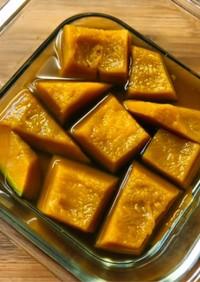 レンジで簡単めんつゆで冷凍カボチャの煮物