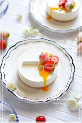 やさしい味のレアチーズケーキ