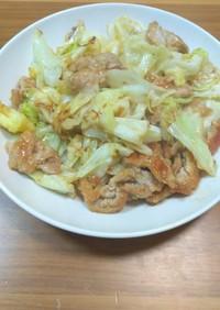 キャベツと豚肉のポン酢炒め