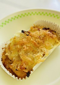 厚揚げのみそチーズ焼き⭐︎給食メニュー