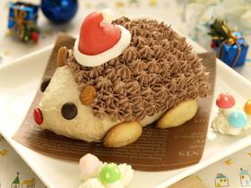 ハリネズミのクリスマスケーキ