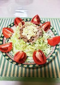 キャベツとシーチキンのサラダ
