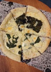 魚焼きグリルで作るおつまみしらすピザ