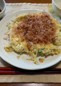 豆腐とおからパウダーのお好み焼き風