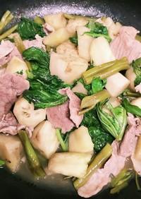 ◇簡単☆白茄子と空芯菜の豚肉中華炒め♪◇