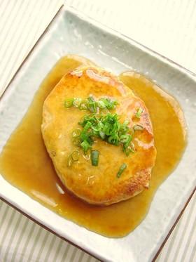 鶏挽肉と厚揚げのあんかけバーグ。