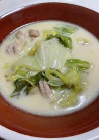 白菜と鶏肉の白味噌クリーム煮