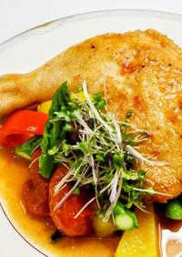 低温調理器レシピ☆骨付き鶏もも肉の照焼き