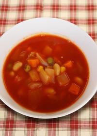 【主菜】大豆のミネストローネ