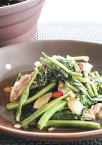 ごはんが進む!豚肉と空心菜の炒め物