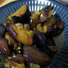茄子のピリ辛甘酢炒め