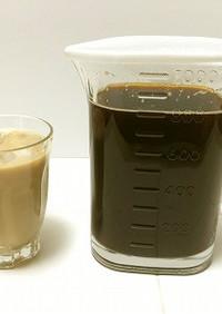 インスタント粉でアイスコーヒー微糖1L