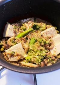 豚ひき肉と木綿豆腐の味噌炒め