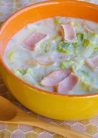 優しい味の白菜とハムのクリーム煮