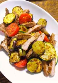 夏野菜と豚肉のソテー