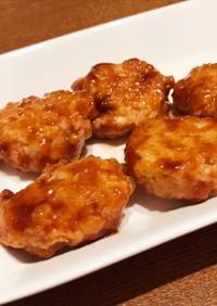 簡単ズボラ鶏つくねBBQ味 卵、豆腐なし