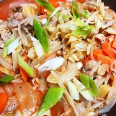 焼肉のタレで作るピリ辛野菜炒め