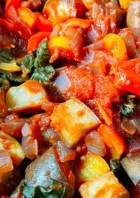 モロヘイヤと夏野菜のラタトゥイユ