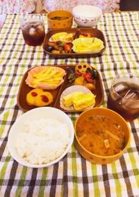 3女と4女の朝食♡令和3年9月7日(火)