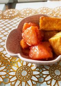 超簡単 厚揚げとトマトの味噌炒め
