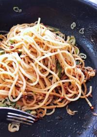 食べるオリーブオイル使い道・しらすパスタ