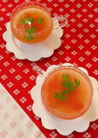 ひんやりトマトコンソメスープ
