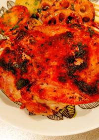 魚焼きグリルでローストチキン