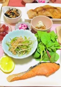 焼き鮭・お魚メインの夕飯献立