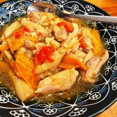 【ホットクック】鶏とパプリカのくったり煮