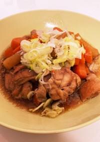 圧力鍋で簡単!鶏肉と大根の煮物