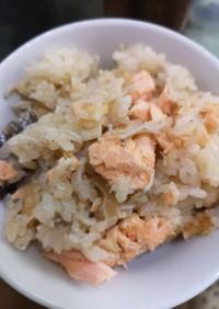 鮭とジャコの炊き込みご飯
