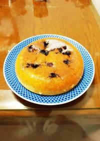 簡単 炊飯器でブルーベリー台湾カステラ風