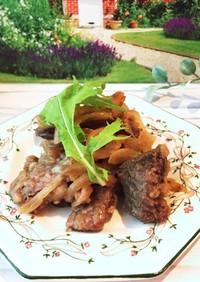 牛肉と玉ねぎ ステーキソース煮