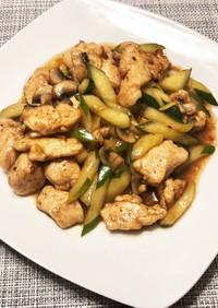 【減塩】鶏胸キュウリの中華風炒め