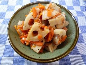 和惣菜☆れんこんとにんじんの煮物