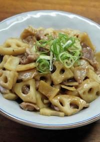 レンコンと豚肉の味噌炒め
