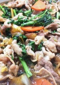 簡単おかず:豚バラ野菜のくた煮